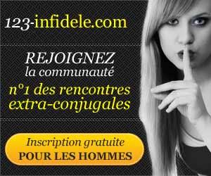 123 Infidèle : site de rencontres extra-conjugales gratuit pour les hommes