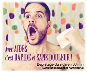 AIDES : test rapide VIH à résultat immédiat