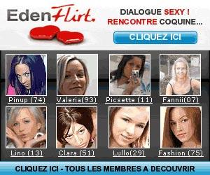 Eden Flirt - Rencontres coquines avec plus de 100 000 célibataires de toutes les régions