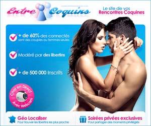 Entre Coquins : rencontres libertines pour couples, femmes et hommes seuls