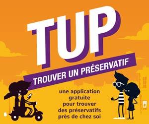 TUP : une application pour trouver un point de vente de préservatifs